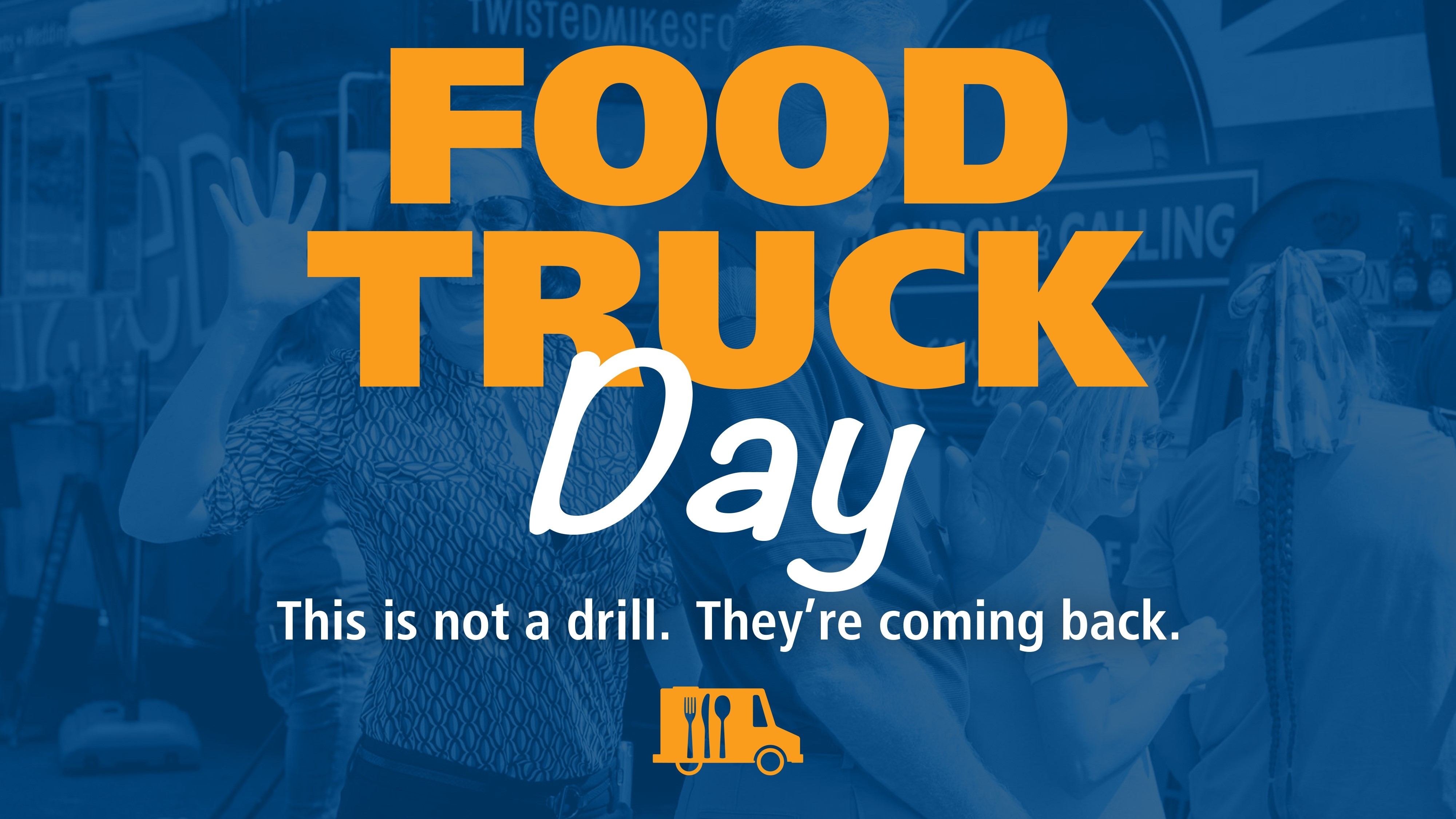 food truck day sign for powerpoint.