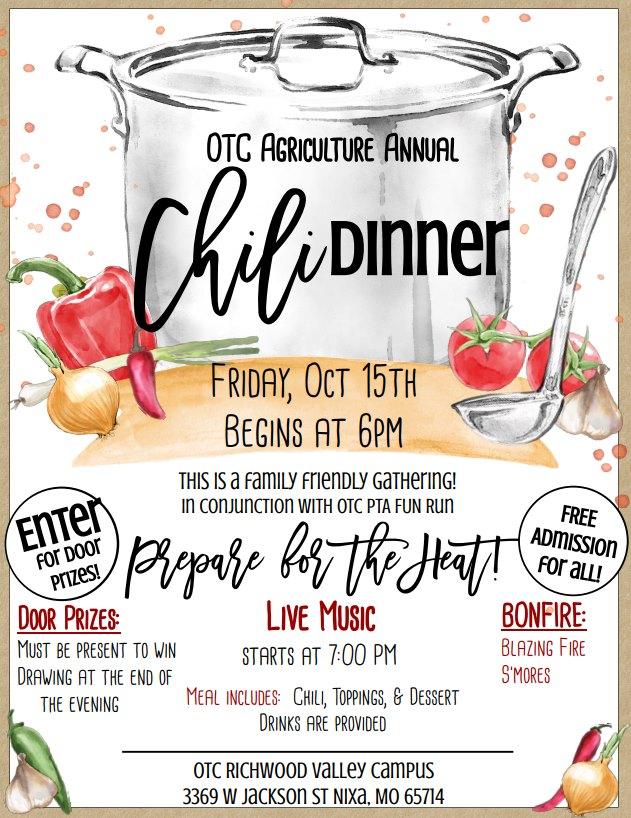 OTC Agriculture Chili Dinner